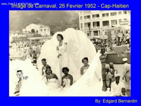 A 1952 image of Carnival in Cap-Haitian
