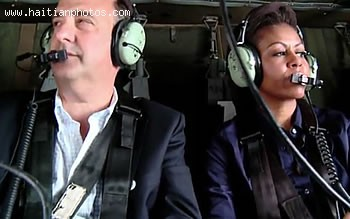 Michelle Obama Taking A Tour Of The Devastation In Haiti Earthquake