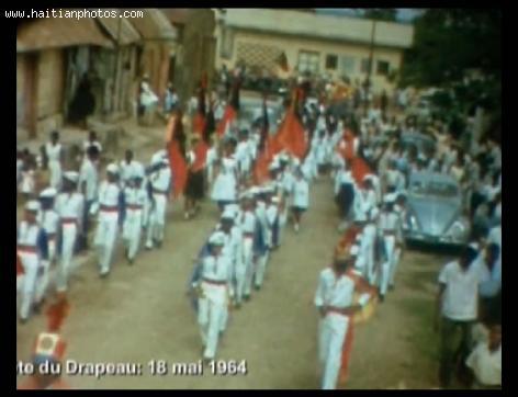 Haiti Flag day in 1964 - Cap-Haitian