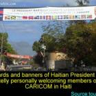Martelly Banner Welcoming Members of CARICOM in Haiti