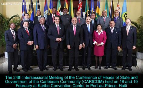 24th Intersessional Meeting of CARICOM in HAITI