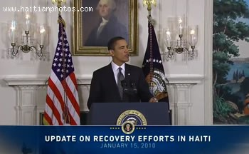 Barack Obama On Haiti Earthquake