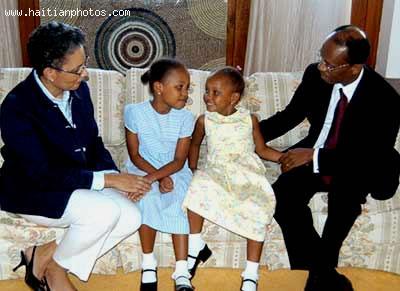 Jean-Bertrand Aristide, Mildred Aristide, Christine Aristide, Michaelle Aristide