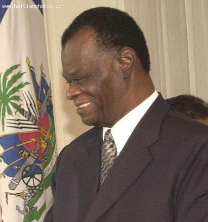 Haitian president Boniface Alexandre
