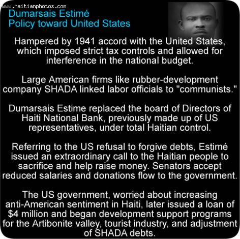 Dumarsais Estime and United States