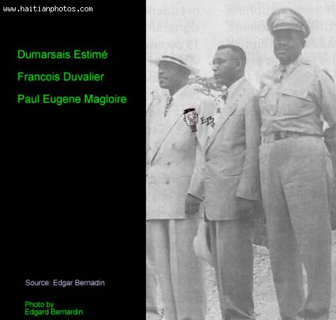 Picture of Dumarsais Estime, Francois Duvalier and Paul Magloire