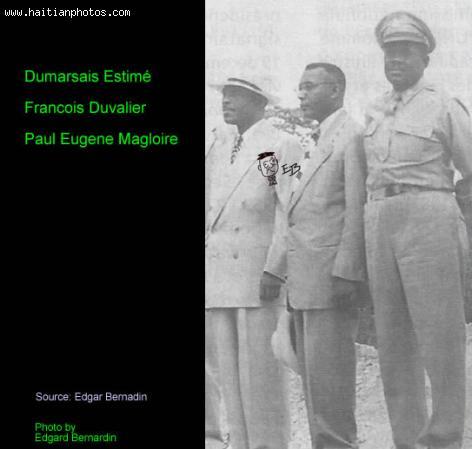 Picture of Dumarsais Estime, Francois Duvalier and Paul Magloire