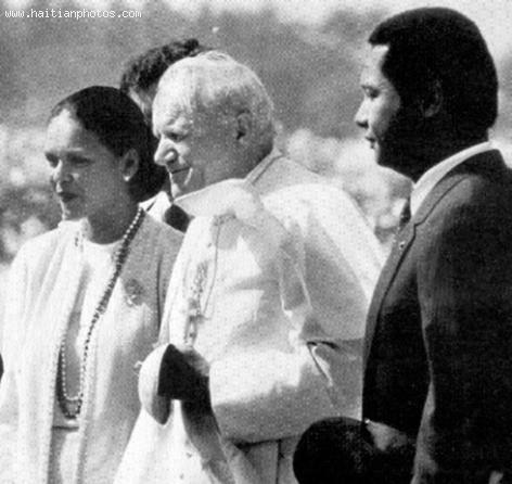 Jean-Claude Duvalier, Michele Bennett, Pope John Paul 2