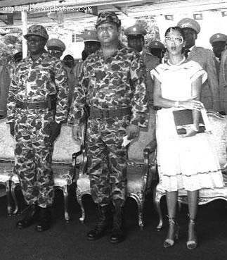 Jean Claude Duvalier and Michele Bennett - Leopard Uniform