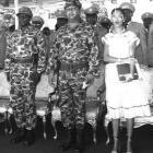 Jean Claude Duvalier and Michele Bennett - Leopard Uniform