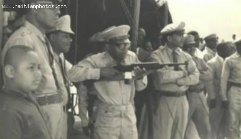 Jean Claude Duvalier as teenager and Francois Duvalier