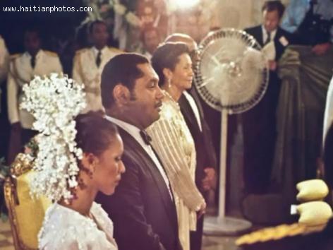 Jean Claude Duvalier and Michele Bennett Wedding