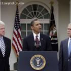 Barack Obama , Bill Clinton And George W. Bush For Haiti Earthquake