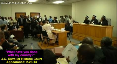 Jean Claude Duvalier in Court for the first time