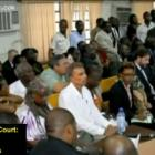 The Victims in Court facing Jean Claude Duvalier Face to Face