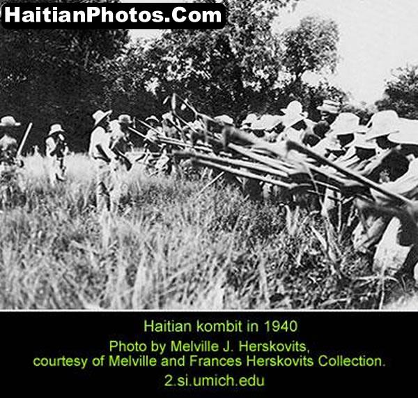Haitian Kombit, a method of working the land