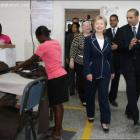 Hillary Clinton in visit in Haiti
