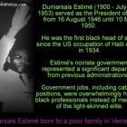 Dumarsais Estime, born in verrettes