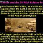 Elie Lescot and the SHADA Rubber project