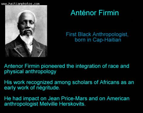 Antenor Firmin, Haitian anthropologist, journalist, and politician