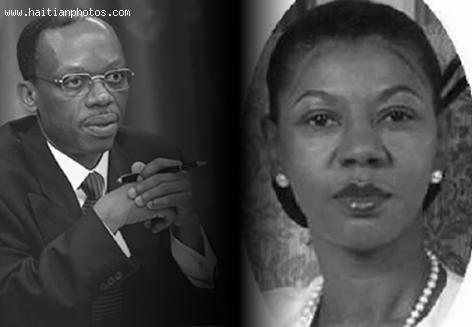 Ertha Pascal-Trouillot and Jean Bertrand Aristide