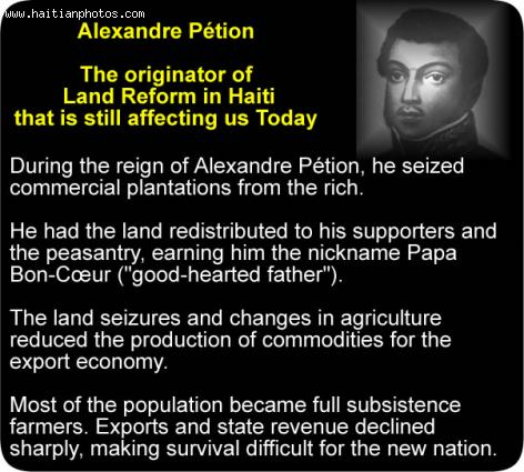 Alexandre Petion and Haiti land reform
