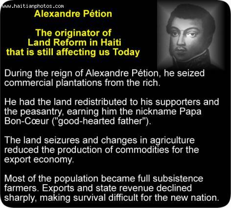 Alexandre Petion and Haiti land reform