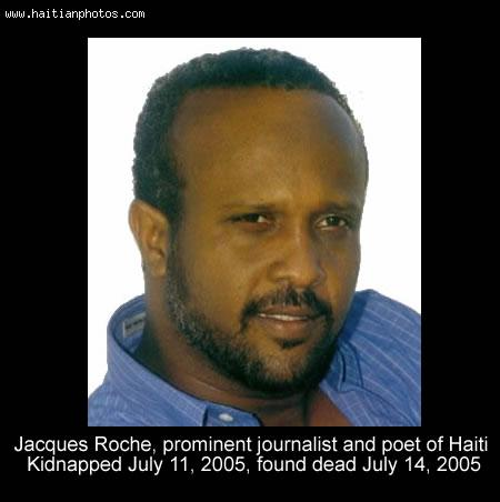 Jacques Roche prominent Haitian  journalist assassinated
