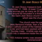 St Jean Bosco massacre in Haiti