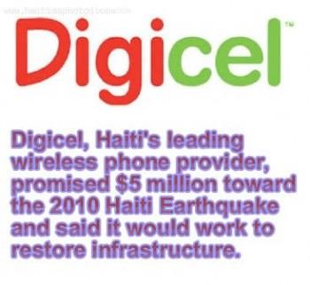 Digicel Donation - Haiti Earthquake - January 12, 2010