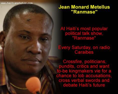 Jean Monard Metellus  in Ranmase, Radio Caraibes