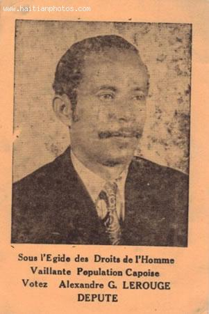 Alexandre Lerouge, Lagislator from Cap-Haitian