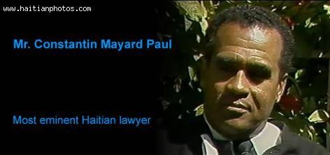 Me. Constantin Mayard Paul, Haitian attorney