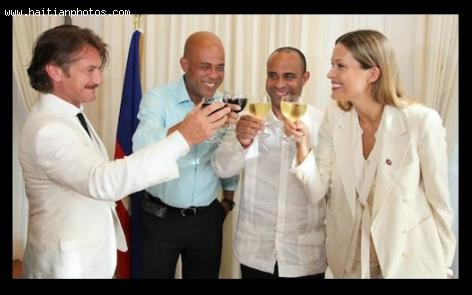 Petra Nemcova, Sean Penn, Laurent Lamothe, Michel Martelly