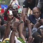Haitian President Jean Bertrand Aristide still a popular leader