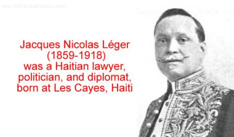 Jacques Nicolas Leger, Haitian lawyer, politician, and diplomat
