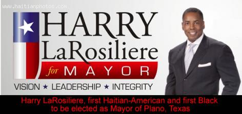 Harry LaRosiliere first Haitian-American Mayor of Plano, Texas