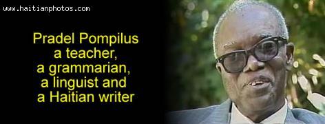 Haitian Writer, Dr. Pradel Pompilus
