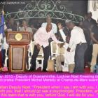Deputy Luckner Noel kneeling down before President Martelly