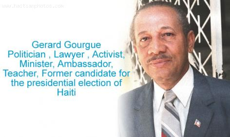 Gerard Gourgue, former candidate for presidential election in Haiti