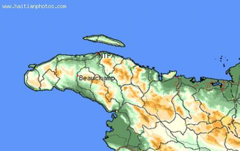 The Map of the region of Beauchamp in Haiti