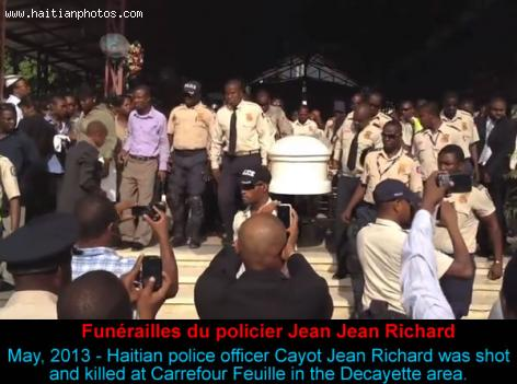 Funerailles Police Officer Jean Jean Richard