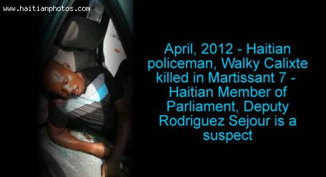 policeman Walky Calixte Assassination