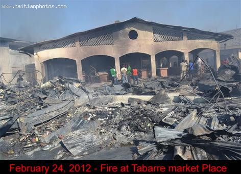 February 24, 2012 - Fire at Tabarre market Place