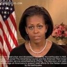 First Lady Michelle Obama - Haiti Earthquake - January 12, 2010
