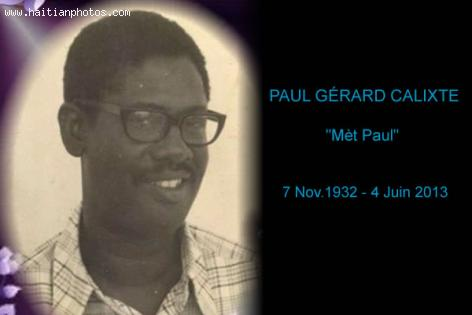 PAUL Gerard CALIXTE dit
