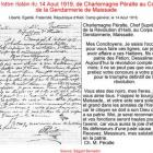 Letter from Charlemagne Peralte to Gendarmerie in Maissade