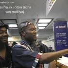 The Haitian comedian Fernel Valcourt AKA Jesifra with Tonton Bicha