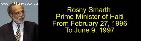 Rosny Smarth, Prime Minister of Haiti