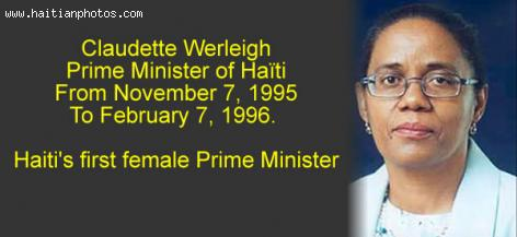 Claudette Werleigh first Woman Prime Minister of Haiti